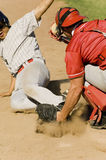 Baseball Players At Base Royalty Free Stock Images