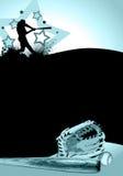 Baseball poster. Baseball batter background. (web, magazine, flyer, poster Royalty Free Stock Photo