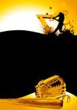 Baseball poster. Baseball batter background. (web, magazine, flyer, poster Stock Photos