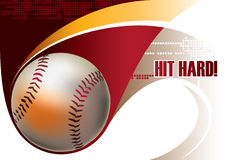 Baseball poster. Baseball artistic poster. Vector illustration Royalty Free Stock Image