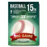 Baseball Poster Vector. Baseball Ball. Design For Sport Bar Promotion. Baseball Club, Academy Flyer. Invitation