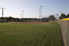 A baseball practice field interior Stock Photography