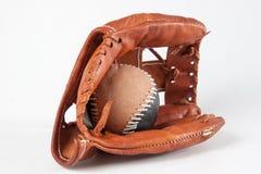 Baseball rękawiczka z piłką Obrazy Stock