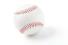 Baseball with red stitching