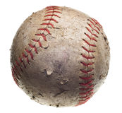 Baseball with red stitching Royalty Free Stock Photos