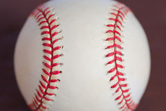 Baseball with red stitching for background Stock Photography
