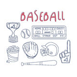 Baseball Related Object And Equipment Set Stock Photo