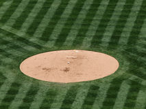 Baseball rest on a mound Royalty Free Stock Images