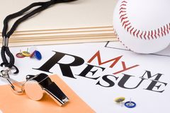 Baseball resume Royalty Free Stock Photos