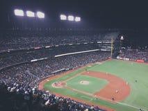 Baseball's night Royalty Free Stock Photo