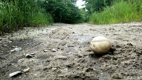 Baseball in the sand Royalty Free Stock Images