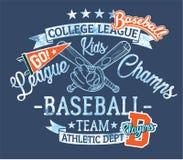 Baseball scherzt Teamligachampions vektor abbildung