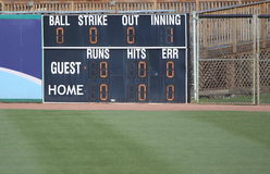 Baseball Score Board Stock Photos
