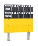 Baseball Score Board Stock Image