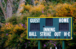 Baseball Scoreboard Royalty Free Stock Photography