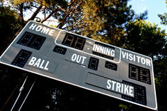 Baseball Scoreboard Royalty Free Stock Images
