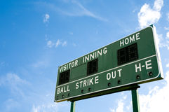 Baseball Scoreboard Stock Images