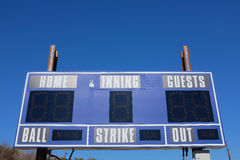 Baseball Scoreboard Royalty Free Stock Photo