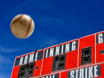 Baseball Scoreboard with Homerun Stock Photos