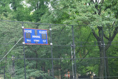 Baseball Scoreboard Stock Image