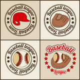 Baseball seals Royalty Free Stock Photography