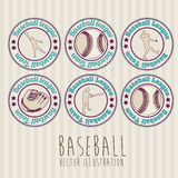 Baseball seals Royalty Free Stock Photos