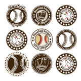 Baseball seals Royalty Free Stock Photo