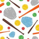 Baseball seamless pattern. Illustration vector stock illustration