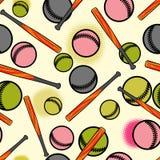 Baseball seamless pattern. Stock Photo