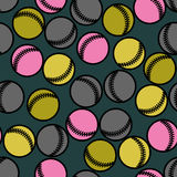 Baseball seamless pattern. Royalty Free Stock Photo