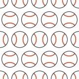 Baseball. Seamless pattern with sport balls. Vector Royalty Free Stock Photos