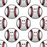 Baseball seamless pattern Royalty Free Stock Photo