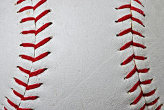 Baseball seams Stock Photography