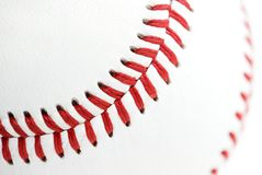 Baseball seams Royalty Free Stock Images