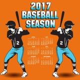2017 baseball season artwork. With two batters Royalty Free Stock Photo