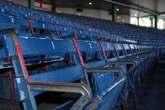 Baseball seats. Row of baseball seats at the ballpark Stock Images