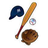 Baseball set vector illustration