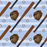 Baseball set seamless background design Royalty Free Stock Image