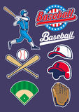 Baseball set Stock Image