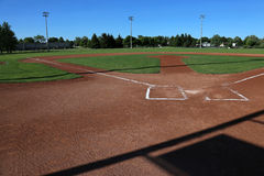 Baseball Shadows with Copyspace Royalty Free Stock Image