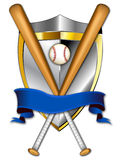 Baseball Shield Banner 2 Illustration. This is a logo illustration that can be used for any baseball and softball teams or leagues. It is a clean crisp example vector illustration