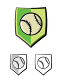 Baseball Shield Emblem Icons Illustration Royalty Free Stock Images