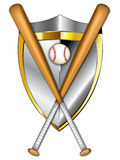 Baseball Shield Illustration. This is a logo illustration that can be used for any baseball and softball teams or leagues. It is a clean crisp example of a more vector illustration