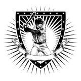 Baseball shield Stock Photography