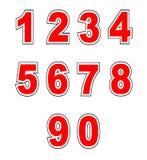 Baseball Shirt Numbers Royalty Free Stock Photos
