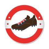 Baseball shoes sport emblem icon Royalty Free Stock Images