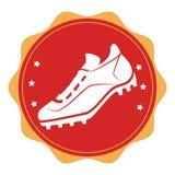 Baseball shoes sport emblem icon Royalty Free Stock Photography