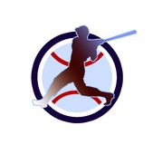 Baseball sign2. Baseball illustration in the circle Royalty Free Stock Photos