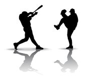 Baseball Silhouette Stock Images