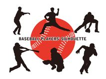 Baseball silhouette1 stock illustration